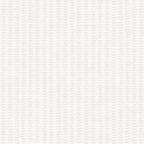 Papel pintado estilo rayas en gris sobre fondo blanco Botanical Stripe 6866