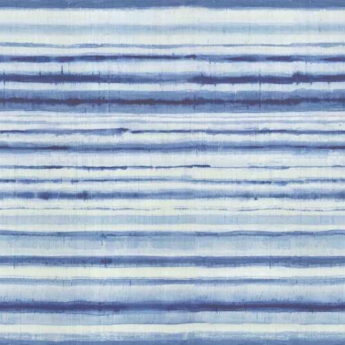Mural de papel pintado abstracto de color azul Habotai Stripe 6886