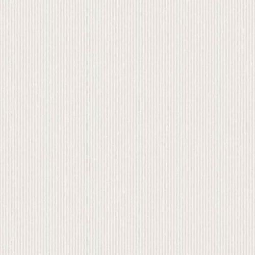 Papel pintado estilo rayas en gris claro sobre fondo blanco Harvest Stripe 6850