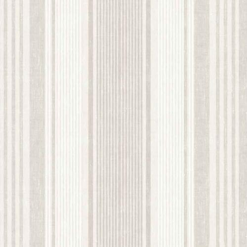 Papel pintado estilo rayas en beige y marfil Linen Stripe 6861