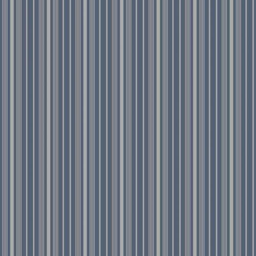 Papel pintado estilo rayas en color azul y gris Noble Stripe 6884