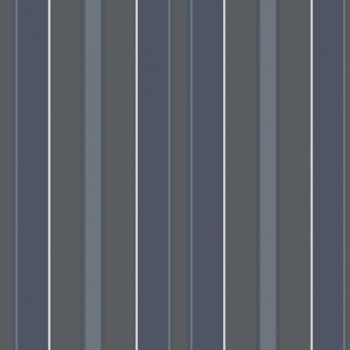 Papel pintado estilo rayas en color azul, gris, turquesa y plata Stockholm Stripe 6874