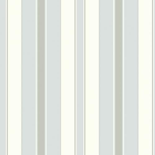 Papel pintado estilo rayas en color blanco, gris y azul Stockholm Stripe 6878