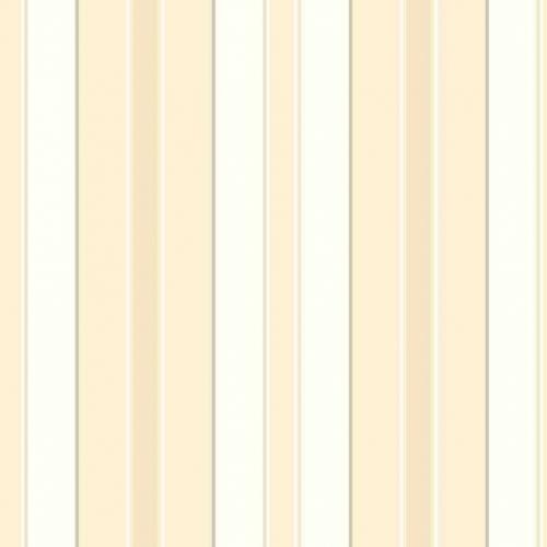 Papel pintado estilo rayas en color blanco, amarillo y oro Stockholm Stripe 6879