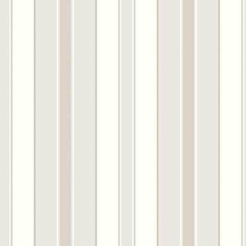 Papel pintado estilo rayas en color blanco, beige y oro Stockholm Stripe 6880
