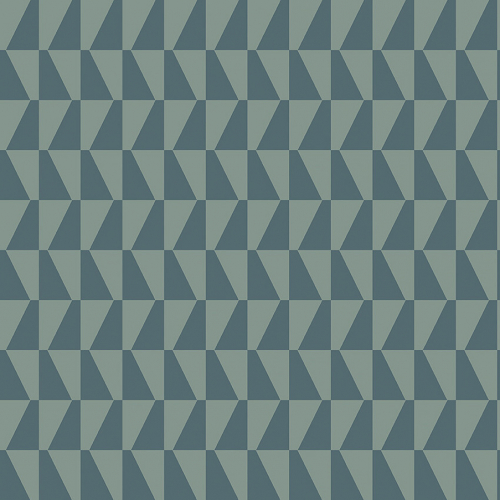 Papel pintado geométrico color azul Arne Jacobsen Trapez 1995
