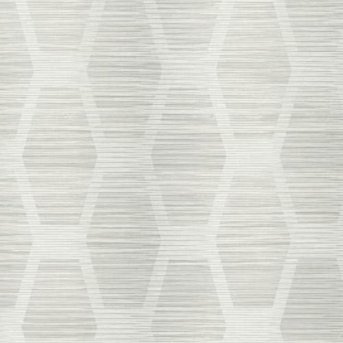 Papel pintado geométrico color gris sobre fondo gris claro Congas CY1572