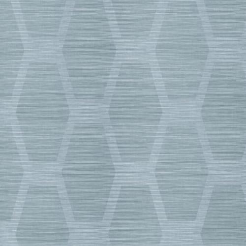 Papel pintado geométrico color azul sobre fondo azul claro Congas CY1576