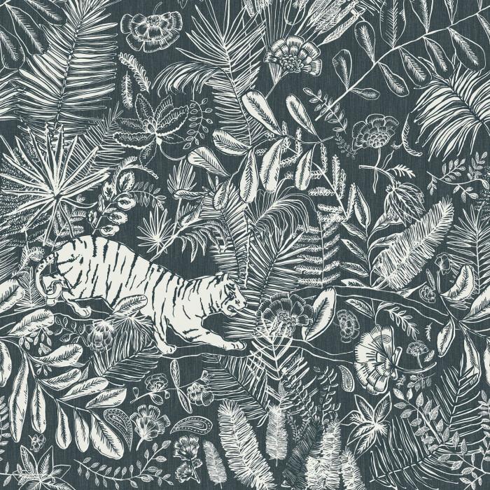 Mural de papel pintado estilo selva