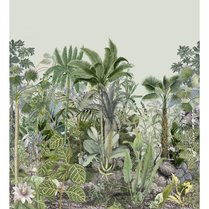 Mural de papel pintado estilo tropical