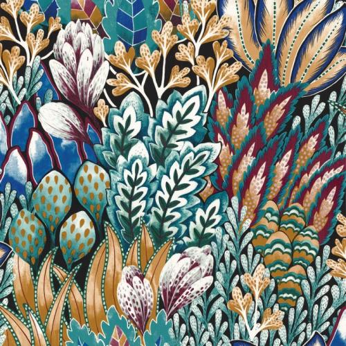 Papel pintado de estilo estampado floral en multicolor Avicennia 75162858