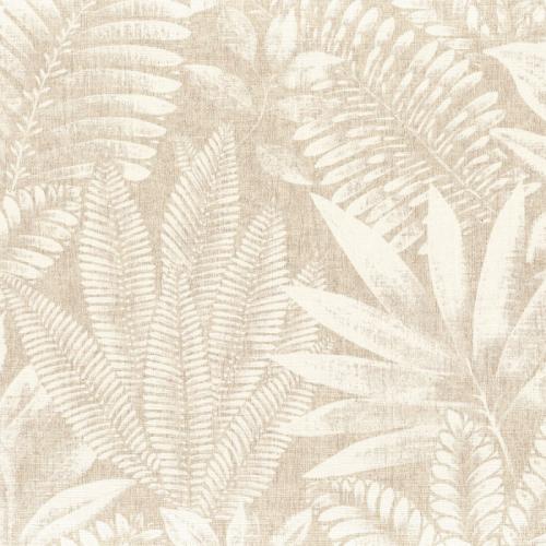Papel pintado de estilo hojas en color ivory Aloes 75183580