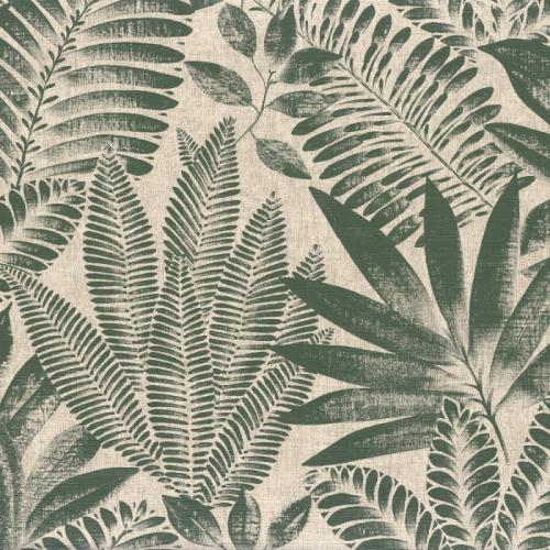 Papel pintado de estilo hojas en verde Aloes 75183784