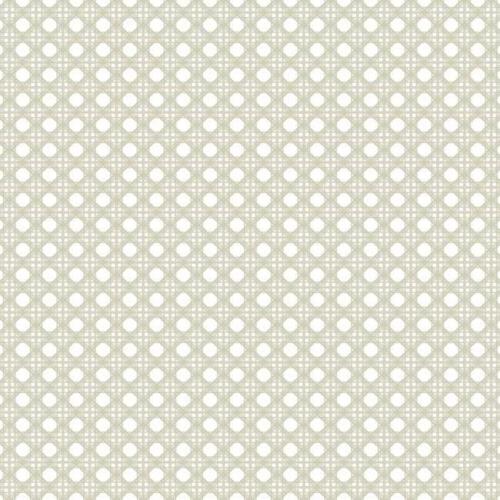 Papel pintado estilo dibujo pequeño color beige Rattan Overlay Lattice CY1522
