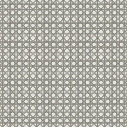 Papel pintado estilo dibujo pequeño color gris oscuro Rattan Overlay Lattice CY1523