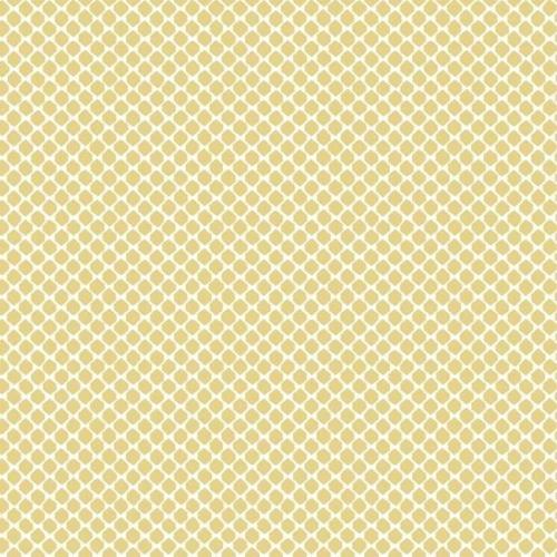 Papel pintado estilo dibujo pequeño en color blanco sobre fondo amarillo Solarium Geo CY1529