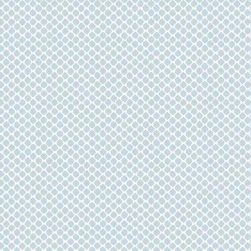 Papel pintado estilo dibujo pequeño en color blanco sobre fondo azul Solarium Geo CY1530