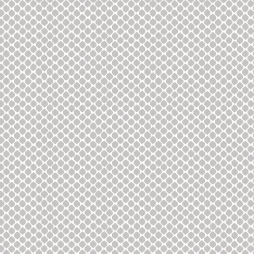 Papel pintado estilo dibujo pequeño en color blanco sobre fondo gris Solarium Geo CY1534