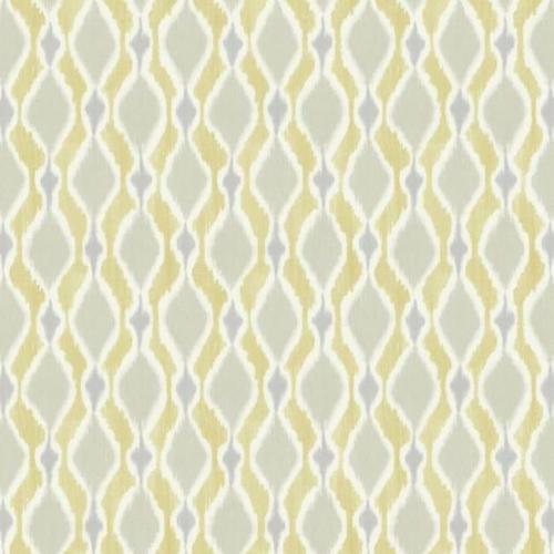 Papel pintado de estilo dibujo pequeño de dibujos de rombos en color beige y gris con rayas amarillas Dyed Ogee SP1427