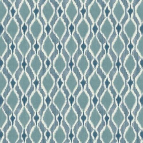 Papel pintado de estilo dibujo pequeño de dibujos de rombos en tonos de azul Dyed Ogee SP1429