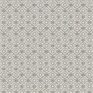 Papel pintado de estilo dibujo pequeño en gris sobre fondo blanco Zellige Tile SP1437