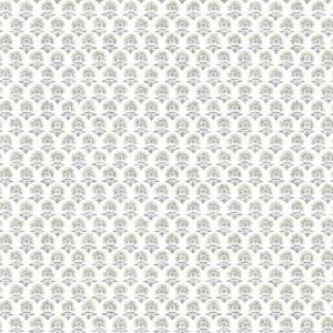 Papel pintado de estilo dibujo pequeño en tonos grises sobre fondo blanco Petite Fleur SP1465