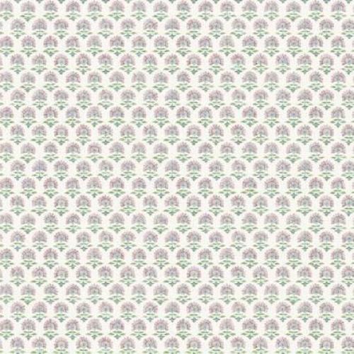 Papel pintado de estilo dibujo pequeño en tonos rosas y verdes sobre fondo blanco Petite Fleur SP1467