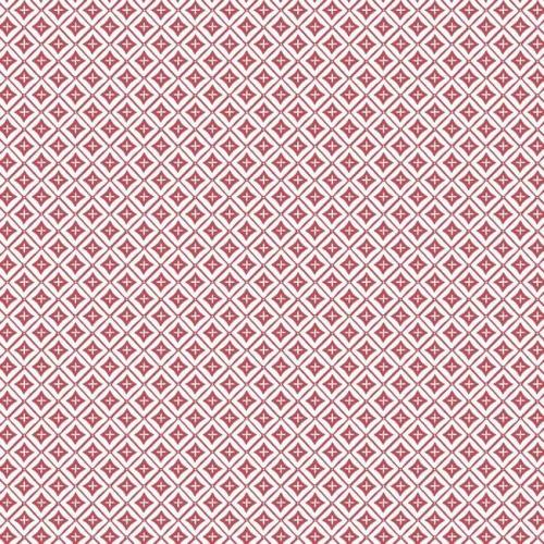 Papel pintado de estilo dibujo pequeño de rombos y líneas en color rojo Polaris SP1473