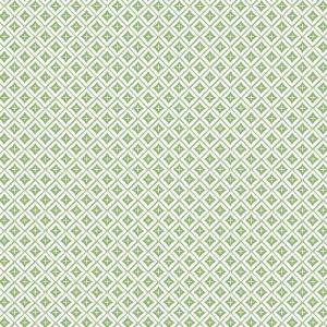 Papel pintado de estilo dibujo pequeño de rombos y líneas en color verde Polaris SP1478