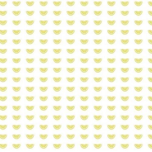 Papel pintado de estilo frutas con dibujos de rodajas de limón en color amarillo Citrus Party SP1514