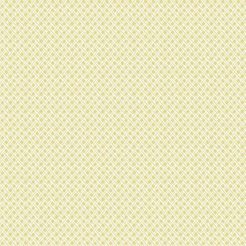 Papel pintado de estilo dibujo pequeño rombos y rayas en color amarillo Wicker Weave SP1529
