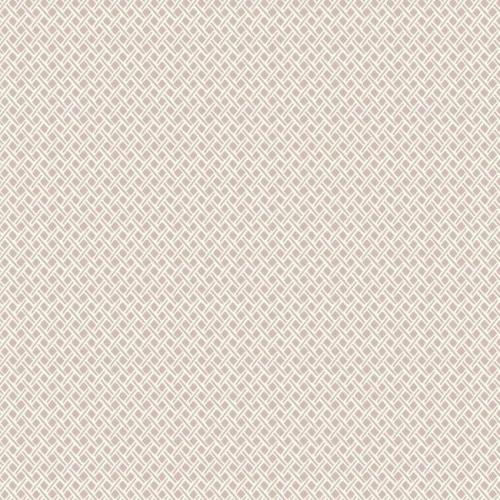 Papel pintado de estilo dibujo pequeño rombos y rayas en color rosa Wicker Weave SP1534
