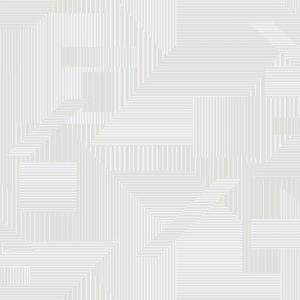 Papel pintado de estilo geométrico en color beige All Lined Up SR1533