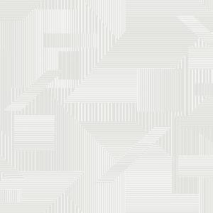 Papel pintado de estilo geométrico en color marfil All Lined Up SR1534