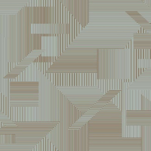 Papel pintado de estilo geométrico en color azul y marrón All Lined Up SR1535