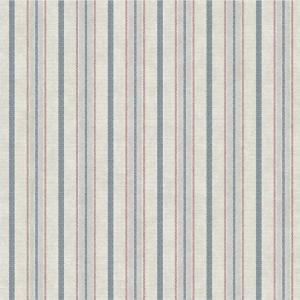 Papel pintado de estilo rayas en color azul-rojo-beige Shirting SR1553