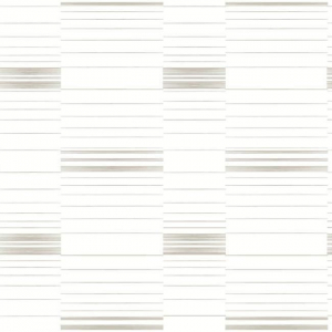 Papel pintado de estilo rayas en color marfil en fondo blanco Dashing SR1573