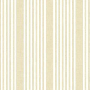 Papel pintado de estilo rayas en color amarillo French Linen SR1585