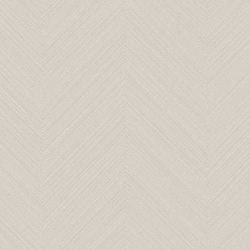 Papel pintado de estilo zig zag en color beige Swept Chevron SR1597