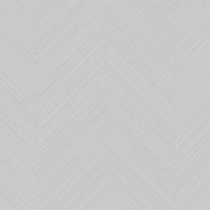 Papel pintado de estilo zig zag en color gris claro Swept Chevron SR1599