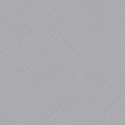 Papel pintado de estilo zig zag en color gris Swept Chevron SR1601