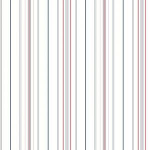 Papel pintado de estilo rayas en color azul-fucsia-blanco Wide Pinstripe SR1623