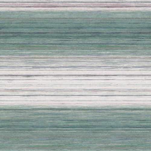 Papel pintado estilo rayas en tonos verdes Kozo Stripe W7552-01