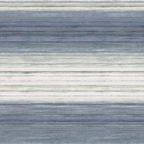 Papel pintado estilo rayas en tonos azules Kozo Stripe W7552-03