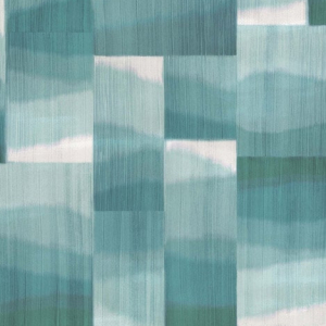 Papel pintado estilo abstracto en tonos verdes Kirigami W7553-01
