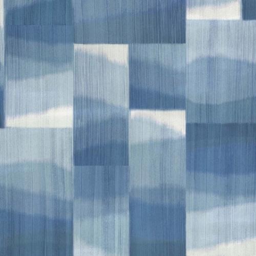 Papel pintado estilo abstracto en tonos azules Kirigami W7553-03