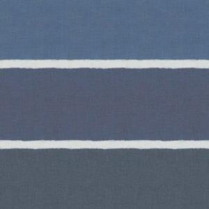 Papel pintado estilo rayas anchas rayas en tonos azules Kanoko W7554-01