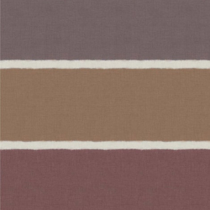 Papel pintado estilo rayas anchas rayas en tonos marrones Kanoko W7554-02