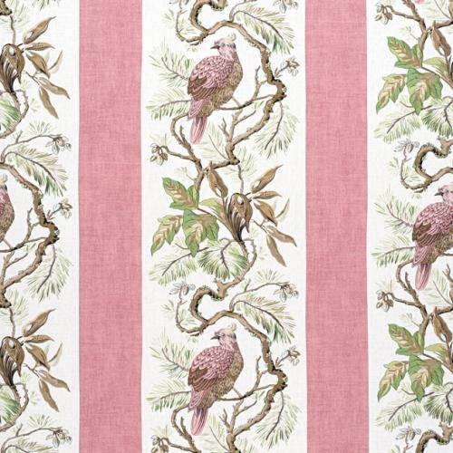 Tela de estilo aves en color rosa pálido Williamson F910859