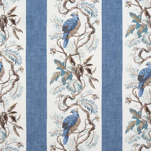 Tela de estilo aves en color azul Williamson F910861